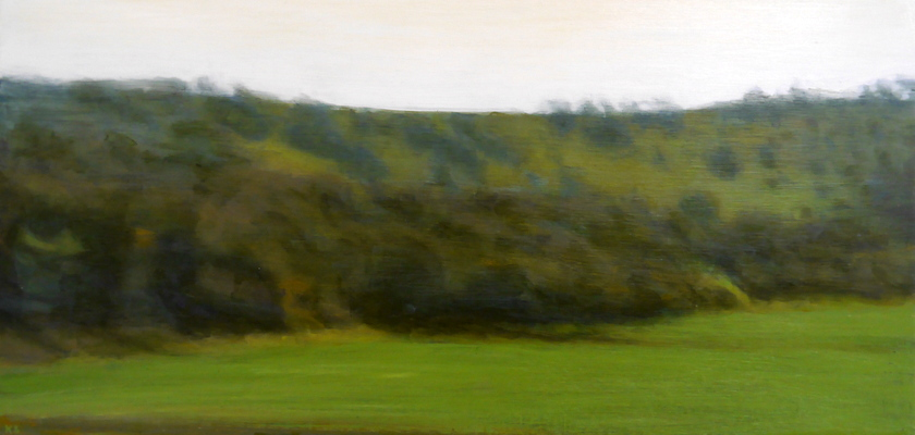 Downs 1, 29 x 60 cm, oil on panel SOLD