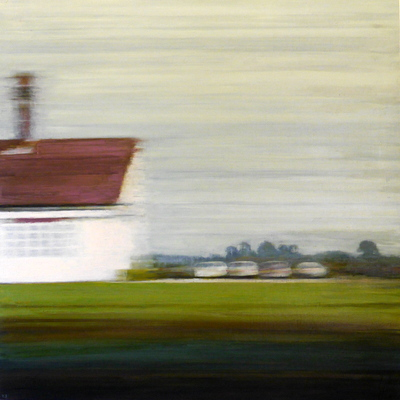 Dwelling (cars), 80 x 80 cm, oil on panel