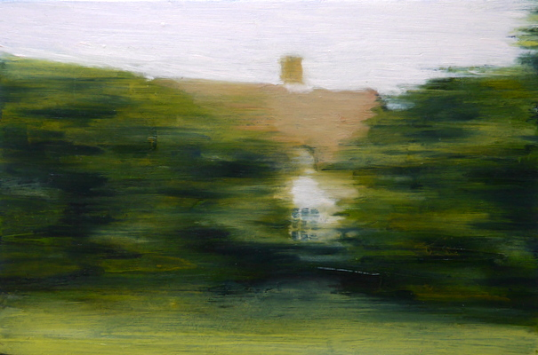 Dwelling 1, 13 x 19.5 cm, oil on board  SOLD