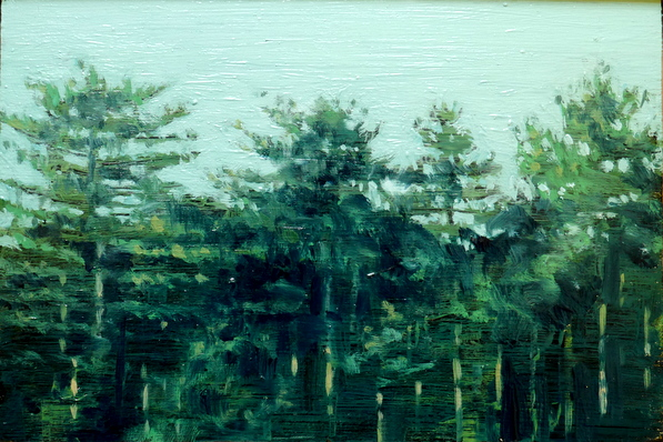 Forest 5, 13 x 19.5 cm, oil on board  SOLD