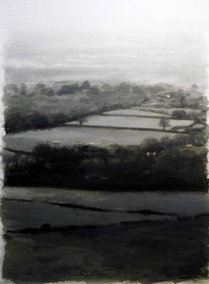 Landscape 9, 2020  Ink on paper  29 x 20cm