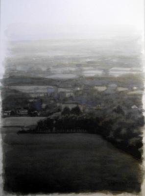 Landscape 5, 2020  Ink on paper  29 x 20cm