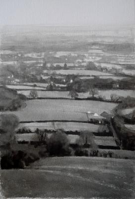 Landscape 15, 2020  Ink on paper  28 x 19cm