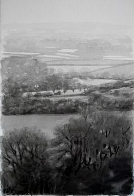 Landscape 14, 2020  Ink on paper  28 x 19cm